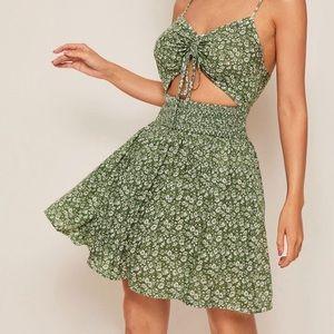 Green cutout dress